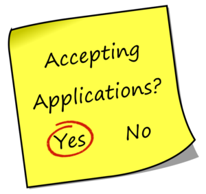 Accepting Applications - Yes - Red